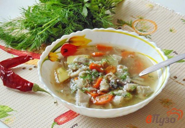 фото рецепта: Гречневый суп с вешенками