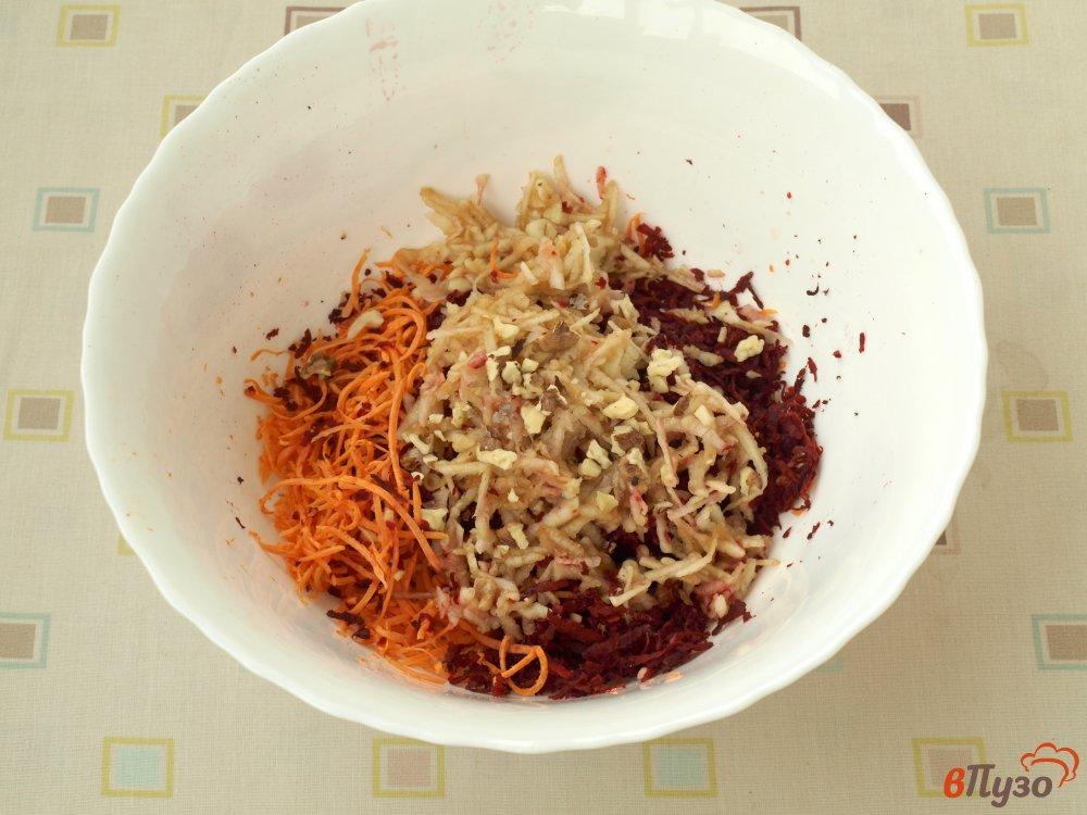 рис со свеклой и морковью