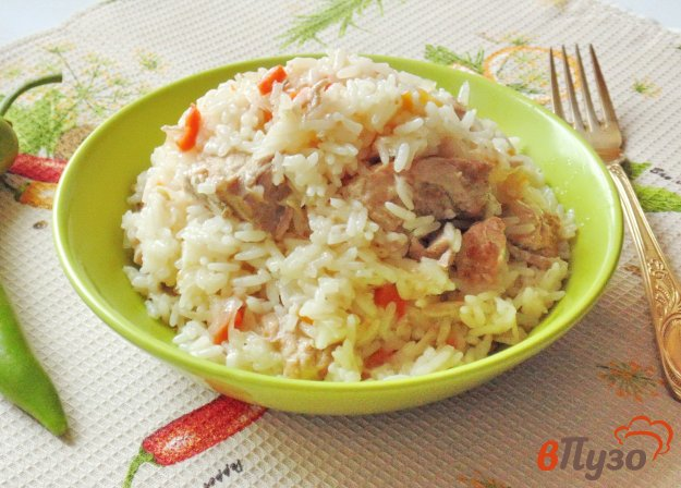 фото рецепта: Свинина с квашеной капустой и рисом