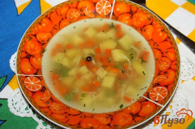 фото рецепта: Суп с зеленым горошком и вермишелью