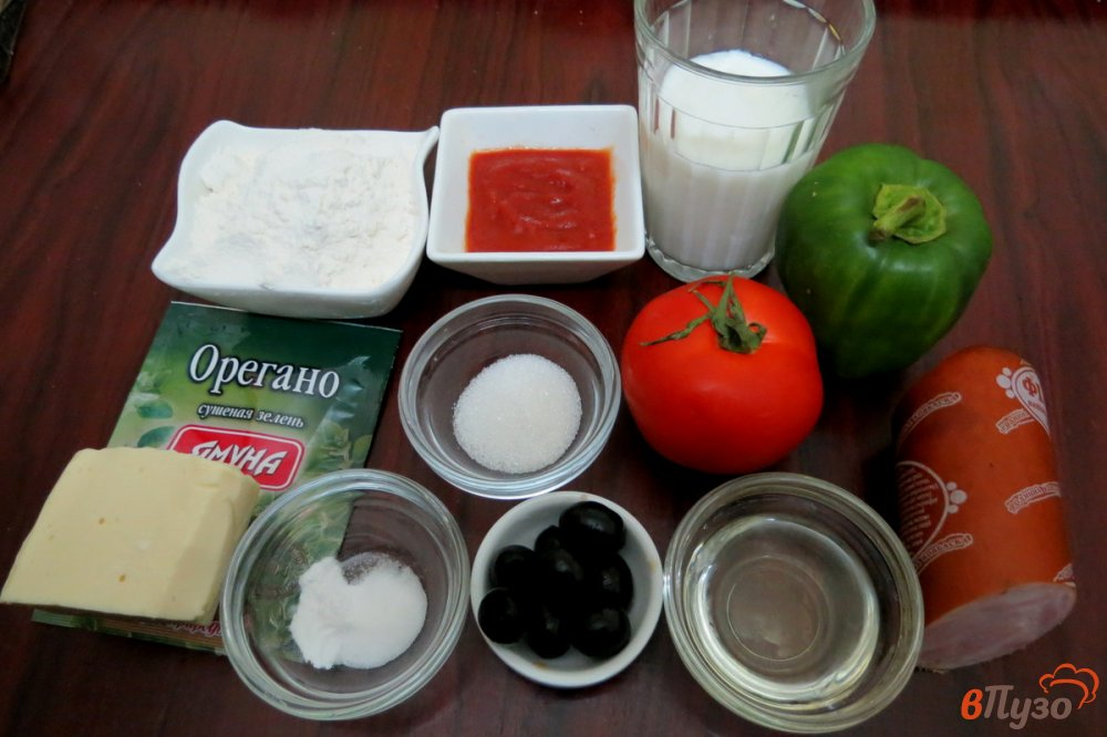 Фото приготовление рецепта: Пицца на сковороде шаг №1