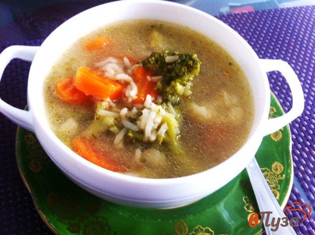фото рецепта: Рыбный суп с овощами и рисом