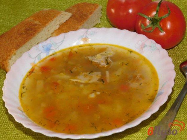 фото рецепта: Суп из свинины с болгарским перцем и чечевицей