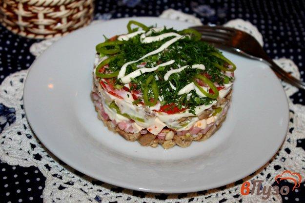 фото рецепта: Куриный салат с перцем и помидорами