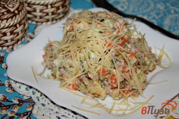 фото рецепта: Салат с ветчиной, морковью и картофелем