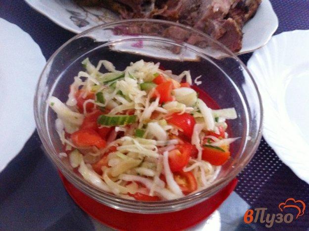 фото рецепта: Салат из свежей капусты и овощей