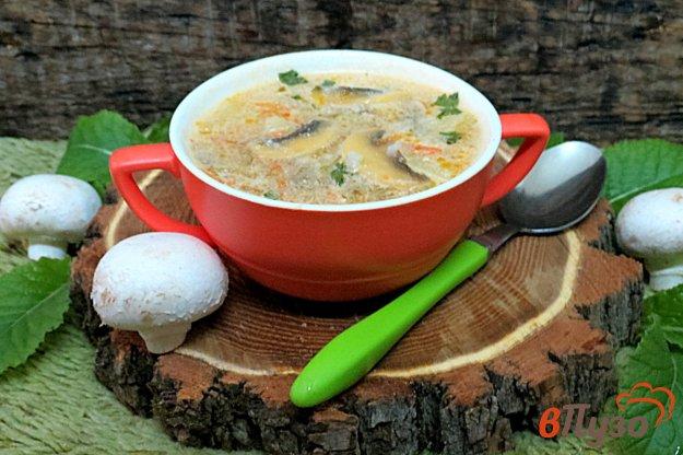 фото рецепта: Рассольник с грибами и сметаной