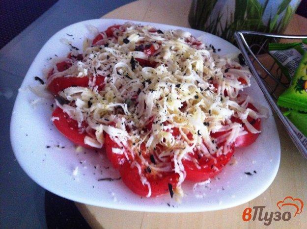 фото рецепта: Салат из помидор и сыром моцарелла