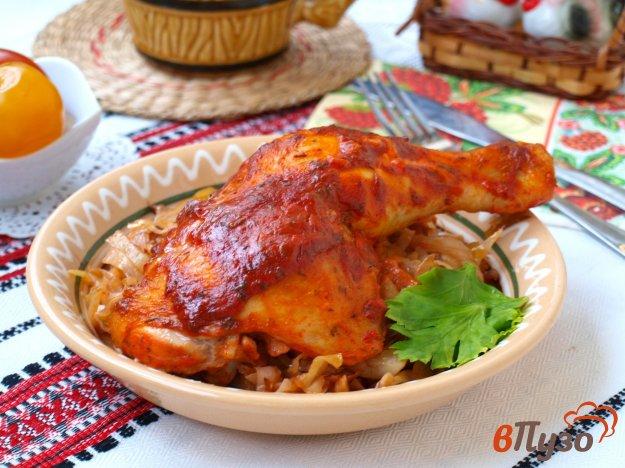 фото рецепта: Куриные окорочка в томатно-сметанном соусе