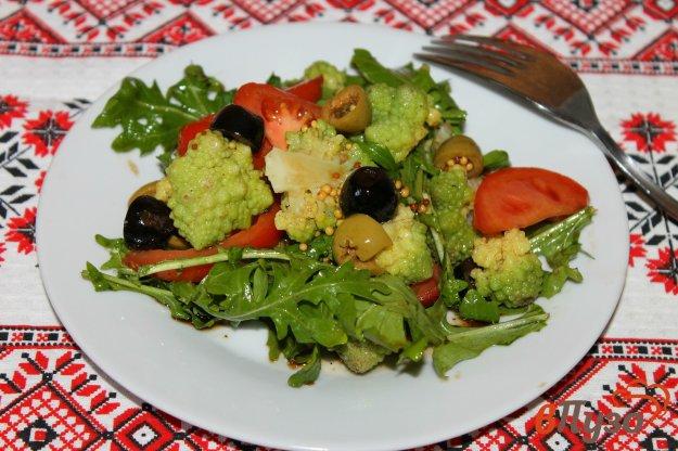 фото рецепта: Салат из цветной капусты и рукколы
