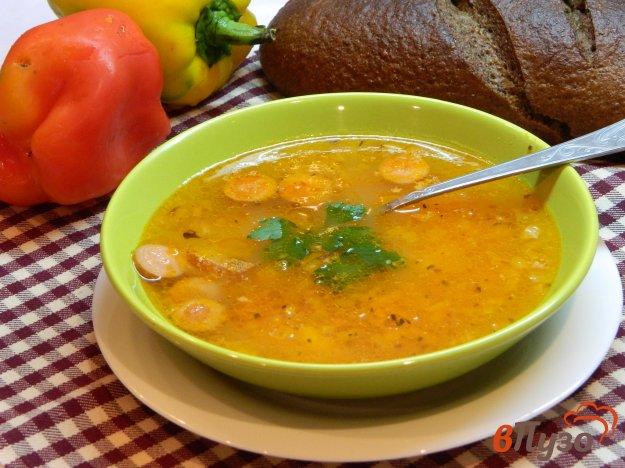 фото рецепта: Картофельный суп с колбасой