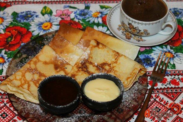фото рецепта: Сладкие блинчики с корицей и ванилью