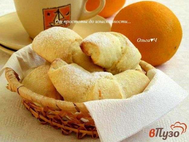 фото рецепта: Творожно-апельсиновые рогалики