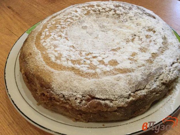 фото рецепта: Грушево-яблочный насыпной пирог в мультиварке