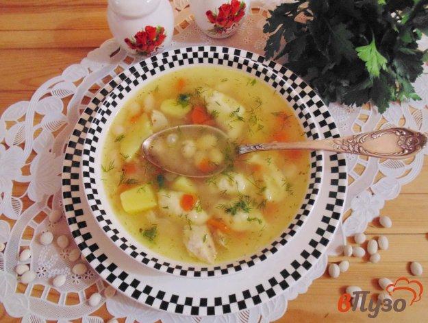 фото рецепта: Фасолевый суп с клецками