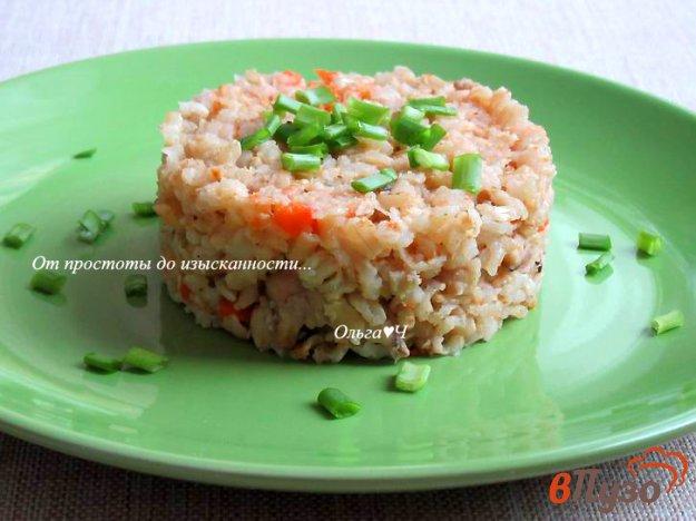 фото рецепта: Плов с курицей и коричневым рисом с ореховой приправой