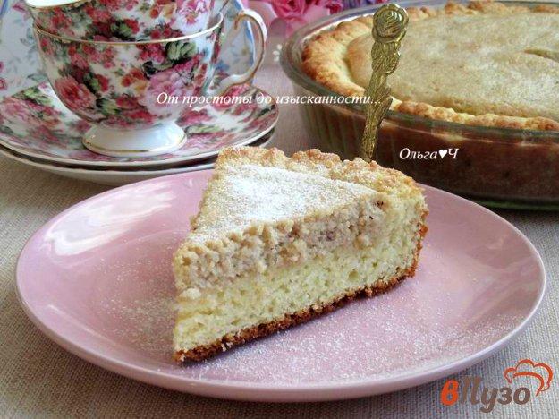 фото рецепта: Творожный пирог с черничным джемом