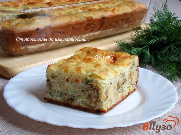 фото рецепта: Заливной пирог с капустой и сельдью