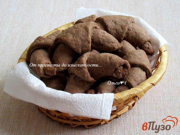 фото рецепта: Постные шоколадные рогалики