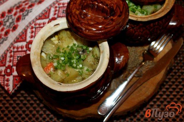 фото рецепта: Картофель с домашними колбасками в сметанном соусе