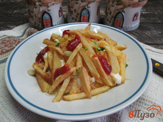 фото рецепта: Салат с ветчиной и хрустящим картофелем