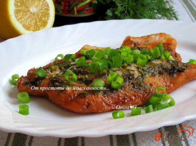 фото рецепта: Пангасиус в соевом соусе с зеленью и лимоном
