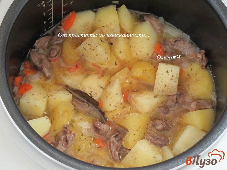 Куриные сердечки с овощами в мультиварке рецепт с фото