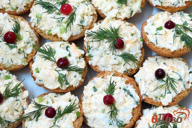 фото рецепта: Гренки с сыром и яйцом (фуршет 3)