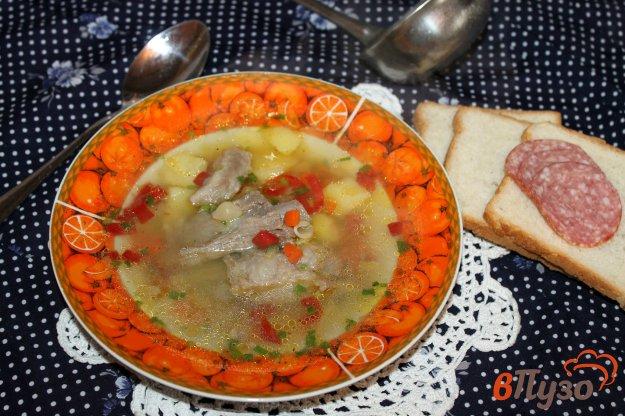 фото рецепта: Суп со свиными ребрами и макаронами