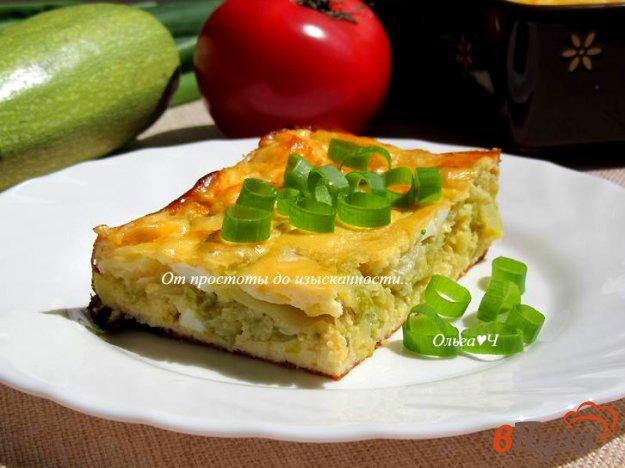 фото рецепта: Творожная запеканка с капустой, кабачком и яйцом