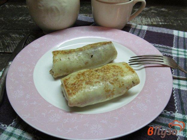 фото рецепта: Блины на молоке с мясом курицы и брокколи