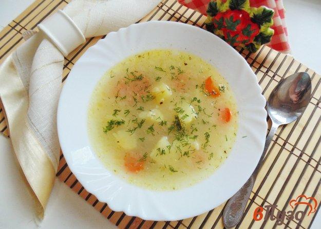 фото рецепта: Овсяный суп с зеленым горошком