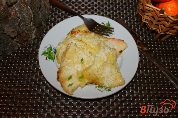 фото рецепта: Картофель с пармезаном в сливочном соусе