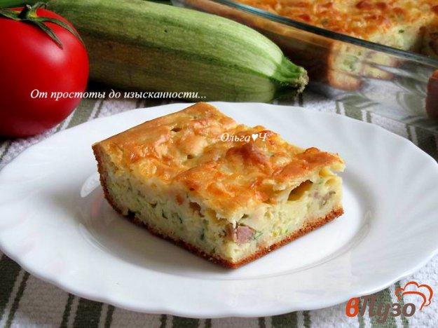 фото рецепта: Заливной пирог с карбонадом, кабачком и картофелем