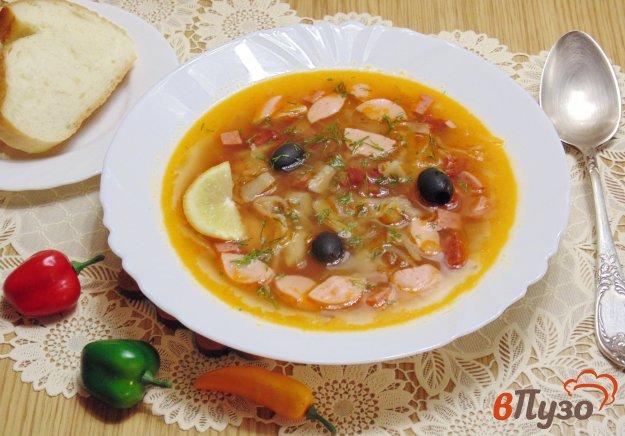 фото рецепта: Солянка мясная с капустой и грибами