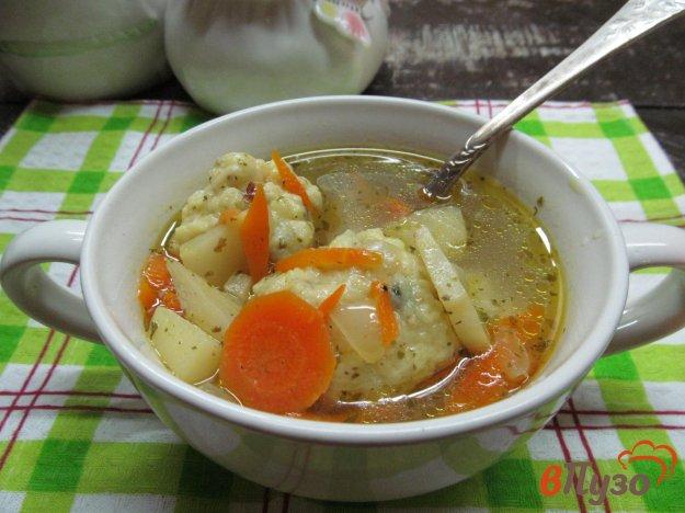 фото рецепта: Суп с горчичными клецками