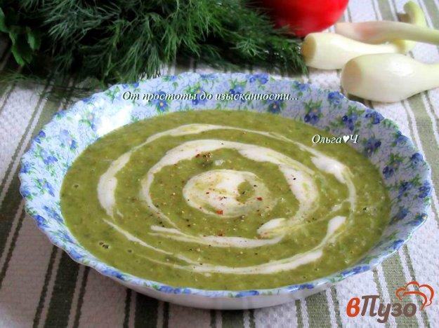 фото рецепта: Суп-пюре из зеленого лука