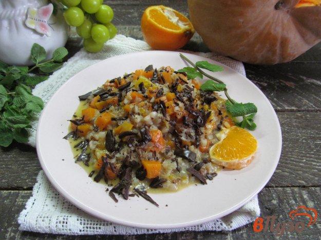 фото рецепта: Каша из тыквы с гречкой и мандарином