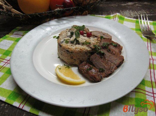 фото рецепта: Филе говядины с грибным суфле