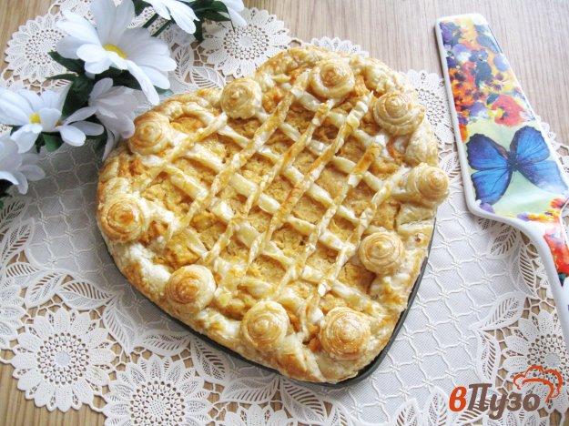 фото рецепта: Слоеный пирог с гороховым пюре