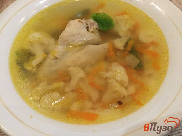 фото рецепта: Суп с куриными крылышками и овощами