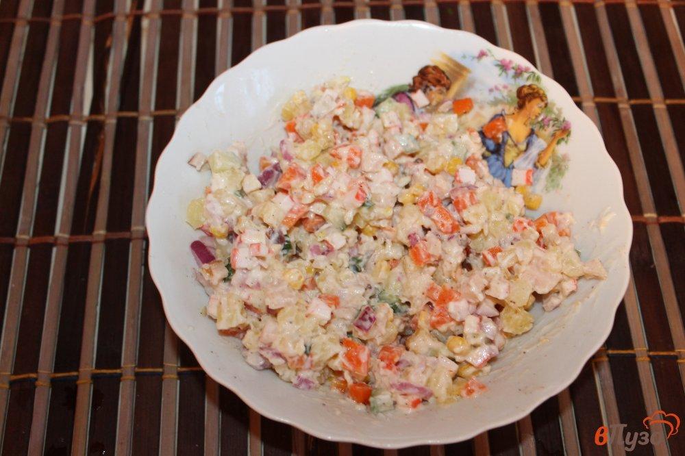 Салат крабовые палочки кукуруза грудка