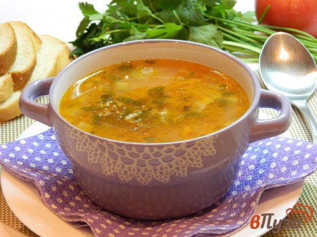 фото рецепта: Суп рассольник с рисом на курином бульоне