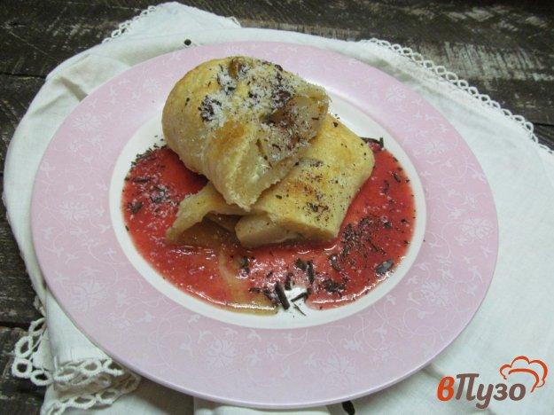 фото рецепта: Грушевый штрудель с голубым сыром