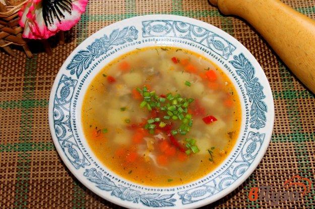 фото рецепта: Суп с рыбными консервами и яйцом