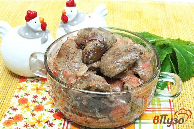 Бефстроганов из печени куриной рецепт с фото