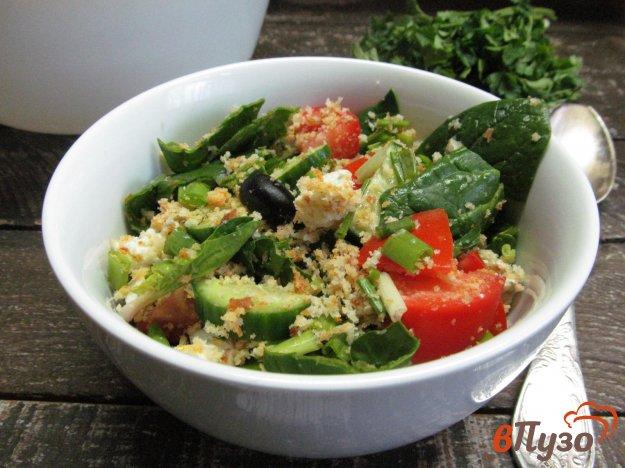 фото рецепта: Итальянский салат панцанелла с томатной заправкой