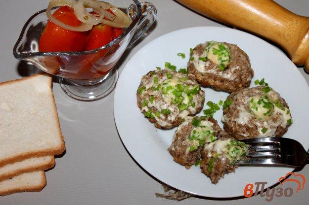 фото рецепта: Котлеты с сырными шариками