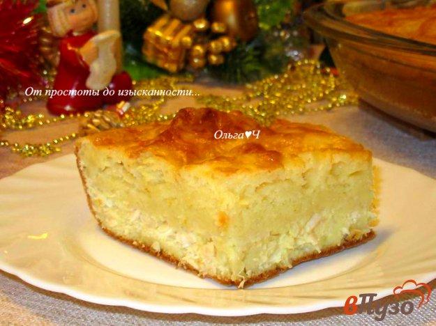 фото рецепта: Заливной пирог с курицей и картофельным пюре