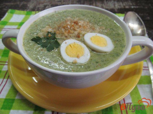 фото рецепта: Крем-суп из брокколи и пекинской капустой